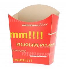 Papieren Container voor frietengroot maat 8,2x3,3x14,9cm (25 eenheden)