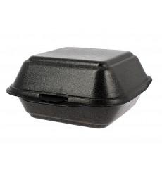 Boîte à HAMBURGER Grand FOAM Noir (125 Unités)