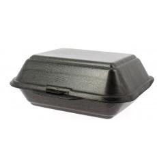 Boîte en FOAM LunchBOX Noir 185x155x70mm (500 Unités)