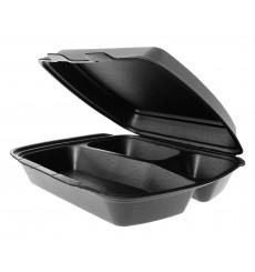 Boîte en FOAM 3 Compartiments Noir (250 Unités)