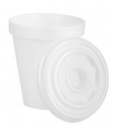 Gobelet Foam 180ml BLANC + Couvercle (1.000 Unités)