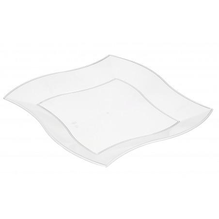Assiette Plastique Plate Ondulée Blanche 230mm (150 Utés)
