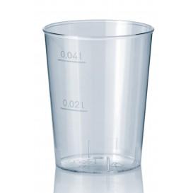 Plastic PS Shotje Geïnjecteerde glascider transparant 40 ml (50 stuks)