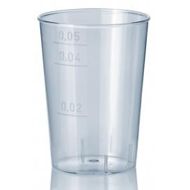 Plastic PS Shotje Geïnjecteerde glascider transparant 50 ml (40 stuks)