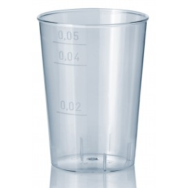 Plastic PS Shotje Geïnjecteerde glascider transparant 50 ml (1600 stuks)