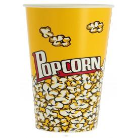 Papieren Popcorn doosje 960ml 11,4x8,9x14cm (25 stuks)
