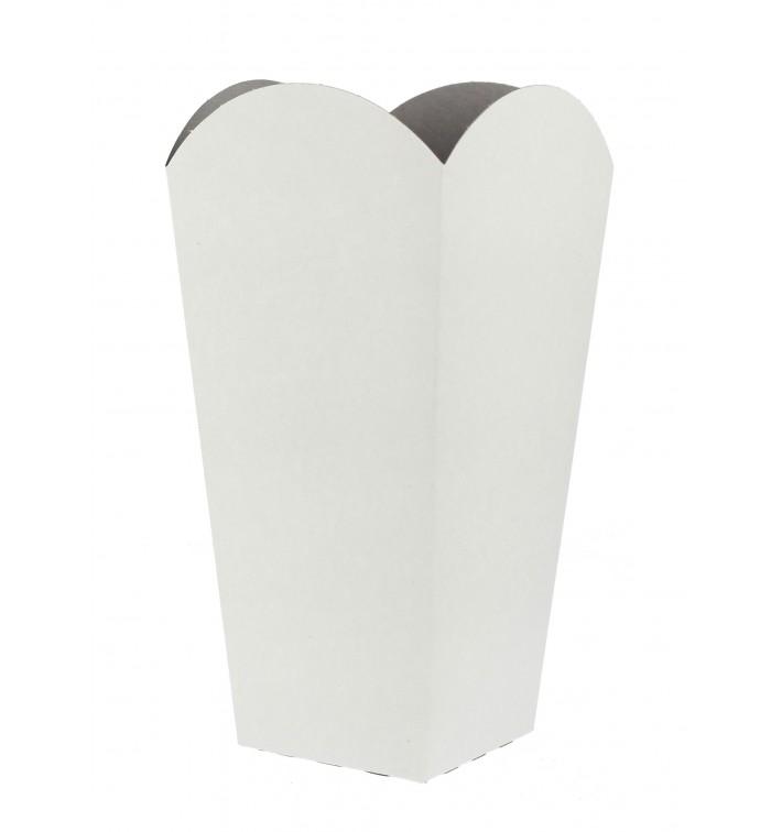 Etuis à Pop-Corn Petit  Blanc 45 gr 6,5x8,5x15cm (25 Unités)