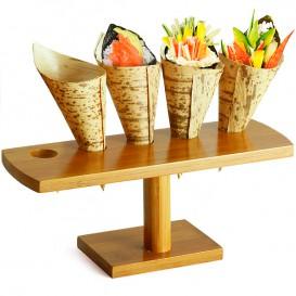 Bamboe Bediening kegel houder 5 slots (1 stuk)