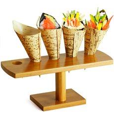 Stand en Bambou pour 5 Cornets (1 Unité)