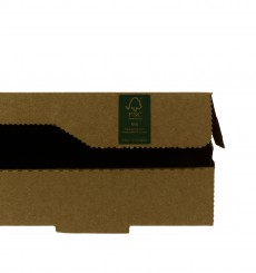 Boîte Carton Kraft 40x40x4,2 cm (100 Utés)