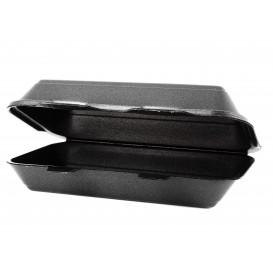 Boîte en FOAM LunchBox Noir 240x155x70mm (500 Unités)