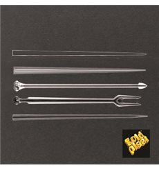 Pique en Plastique Snack Stick Transparent 90mm (6600 Utés)