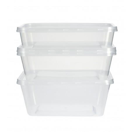 Recipient Plastique Transparent 750ml (500 Utés)