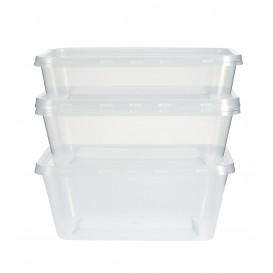 Barquette Plastique Transparent 1000ml (500 Utés)