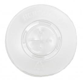 Plastic platte Deksel met kruis PET kristal Ø8,1cm (100 stuks)