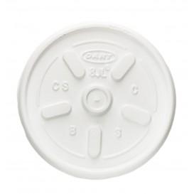 Plastic Deksel PS Ø8,1cm voor Schuim beker (100 stuks)