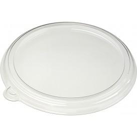 Couvercle Plat en Plastique PET Cristal Ø21cm (25 Utés)