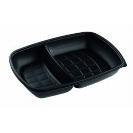 Barquette Plastique PP 2C Noir 1300ml 28x20x4cm (150 Utés)