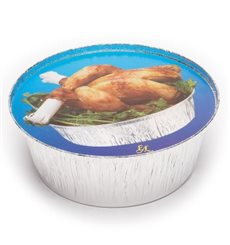 Couvercle Carton Récipient Rond poulet 935 et 1400 ml (125 Unités)