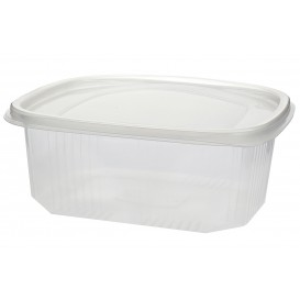 Plastic scharnierende Deli-Container microgolfbaar PP 1000ml (50 stuks)