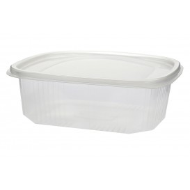 Plastic scharnierende Deli-Container microgolfbaar PP 750ml (50 stuks)