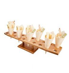 Stand en Bambou pour 20 Cornets (8 Unité)