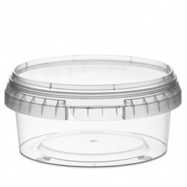 Pot en Plastique rond inviolable 300ml Ø11,8 (187 Unités)