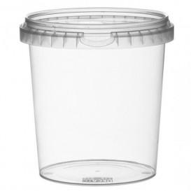 Pot en Plastique rond inviolable 870ml Ø11,8 (114 Unités)