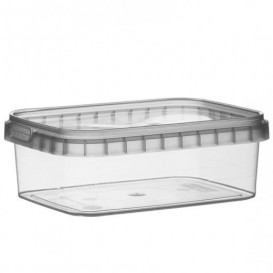 Pot en Plastique Rectangulaire inviolable 280ml 120x88mm (384 Unités)
