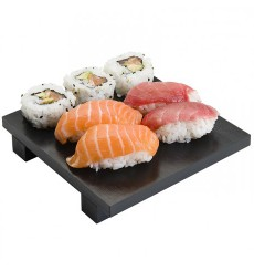 Base en Bambou Noir pour Sushi 15x15x2,5cm (1 Uté)