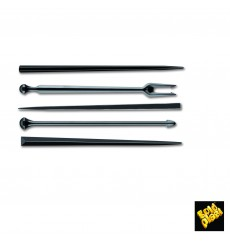 Pique en Plastique Snack Stick Noir 90mm (6600 Utés)