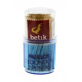 Houten tandenstoker Rond vormig 2 Tips 6,5cm (24 stuks)