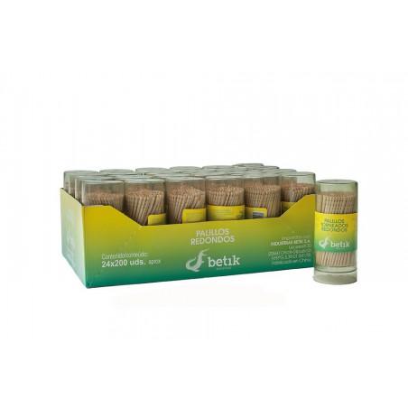 Cure-dents en Bois Rond Tournage 65mm (24 Utés)