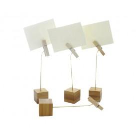 Support pour Cartes en Bambou 130mm (12 Unités)