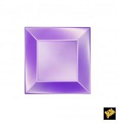 Assiette Plastique Réutilisable Plate Violet Pearl PP 180mm (25 Utés)