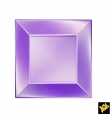 Assiette Plastique Réutilisable Plate Violet Pearl PP 230mm (25 Utés)