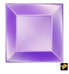 Assiette Plastique Réutilisable Plate Violet Pearl PP 290mm (144 Utés)