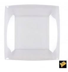 Assiette Plastique Plate Transp. Nice PS 230mm (25 Utés)