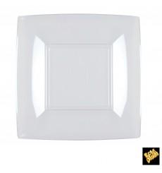 Assiette Plastique Réutilisable Plate Transp. PS 180mm (300 Utés)
