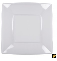 Assiette Plastique Réutilisable Plate Transp. PS 290mm (12 Utés)