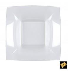 Assiette Plastique Réutilisable Creuse Transp. PS 180mm (25 Utés)