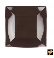 Assiette Plastique Réutilisable Plate Marron PP 230mm (300 Utés)