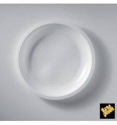 Assiette Plastique Réutilisable Plate Blanc PP Ø220mm (600 Utés)