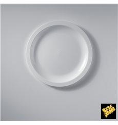 Assiette Plastique Réutilisable Plate Blanc PP Ø185mm (600 Utés)