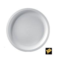 Assiette Plastique Réutilisable Blanc PP Ø290mm (300 Utés)