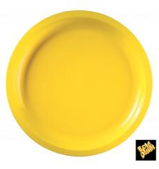 Assiette Plastique Réutilisable Jaune PP Ø290mm (25 Utés)