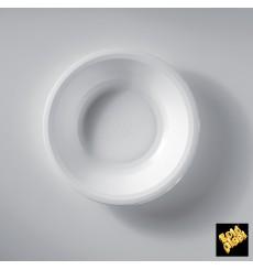 Assiette Plastique Creuse Blanc Round PP Ø195mm (50 Utés)