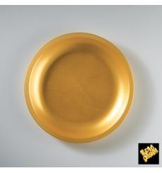 Assiette Plastique Plate Or Round PP Ø220mm (600 Utés)