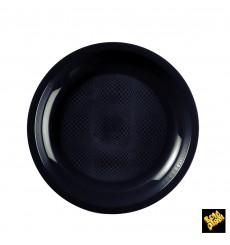 Assiette Plastique Réutilisable Plate Noir PP Ø220mm (600 Utés)