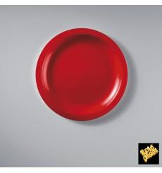Assiette Plastique Réutilisable Plate Rouge PP Ø185mm (50 Utés)